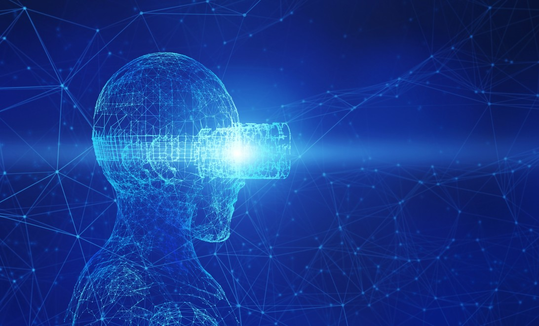 virtual Everything You Wanted To Know About Virtual Power Plants abstract human wearing virtual reality glasses on blue background artificial intelligence in t20 LO479a