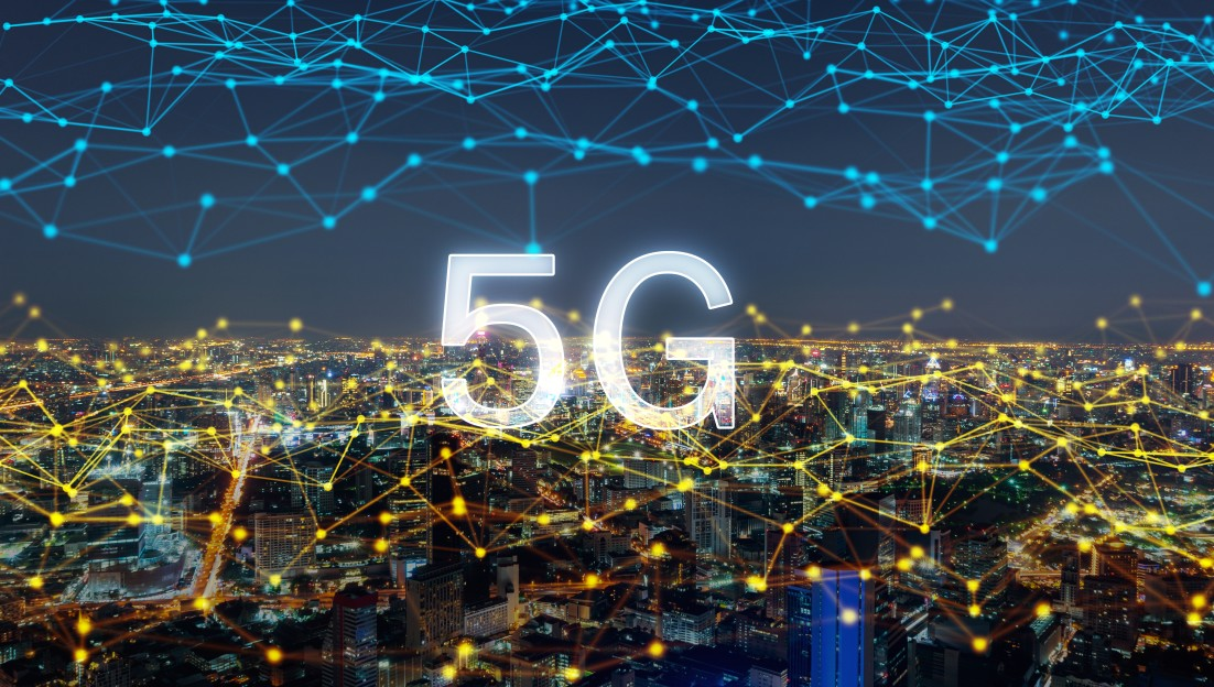 5g The Role of 5G Technology in Shaping Business Outcomes digital network connection lines of 5g downtown bangkok city thailand financial district and business t20 wlB4Y7