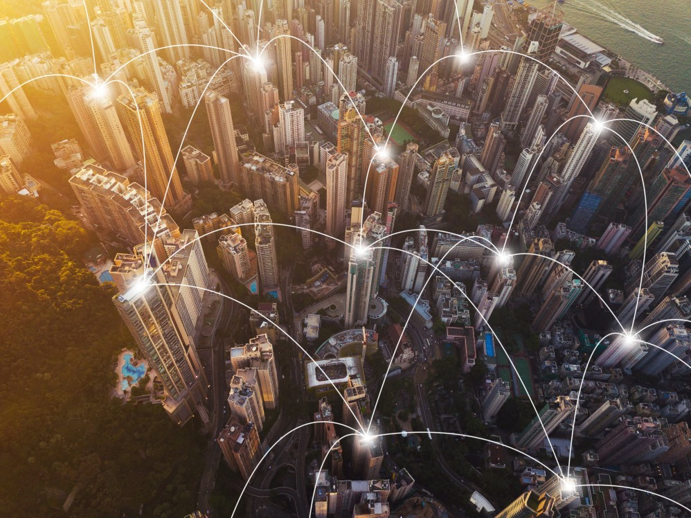 technologies Technologies that are Crucial to Create a Smart City digital network connection lines of hong kong downtown financial district in smart city in technology t20 gopAJx