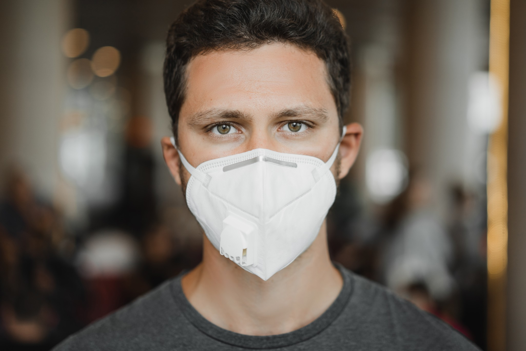 covid COVID – 19 and the Smart Solutions for Companies to Battle the COVID crisis close up portrait of men in respirator mask at the airport coronavirus covid 19 and air pollution t20 nLzbaO