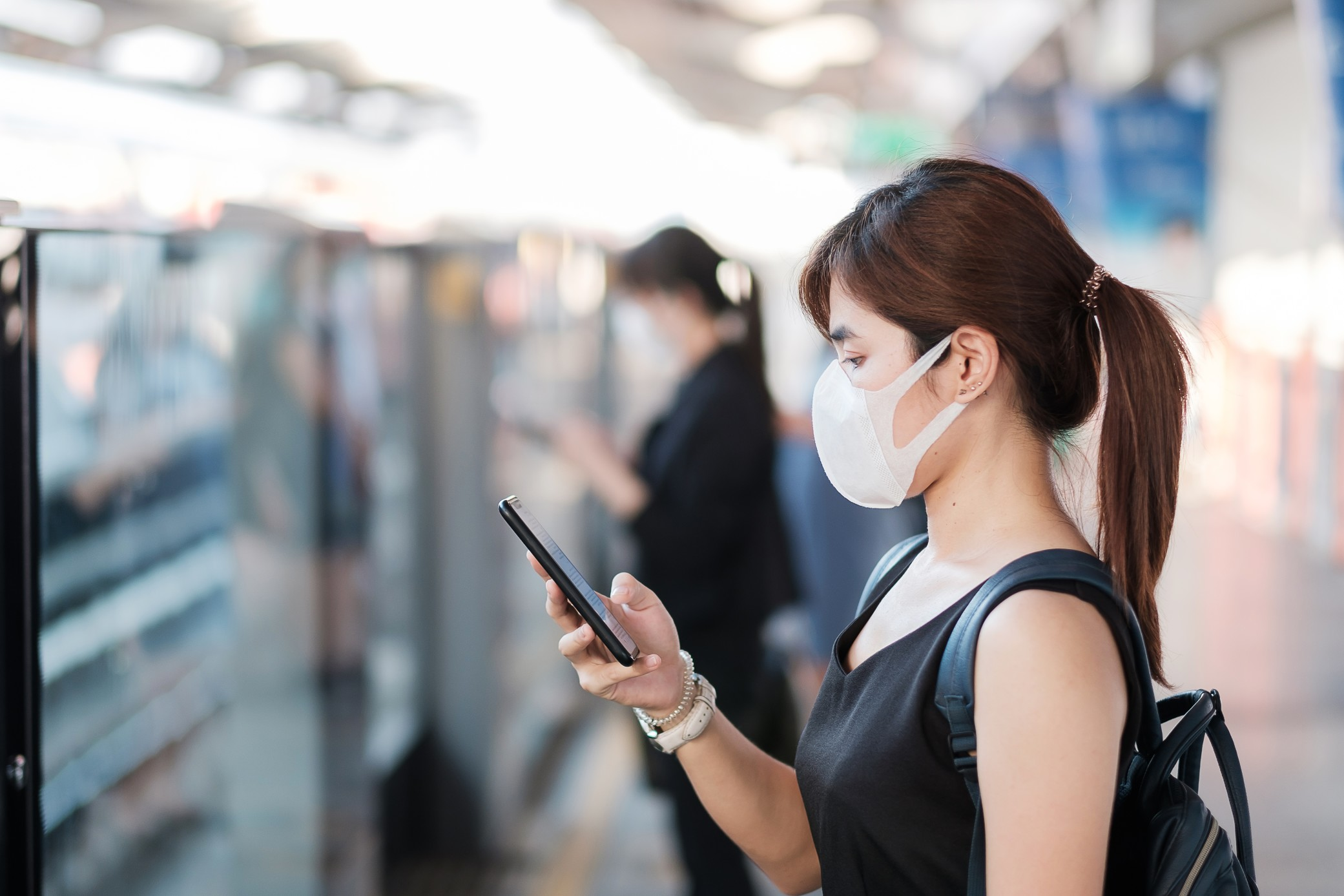 education Will Education Networking Change the Face of Academia? young asian woman wearing surgical face mask against novel coronavirus or corona virus disease t20 A9La3V